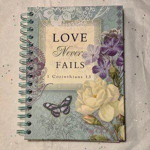 Journal Notebook- NEW- Christian Love Never Fails